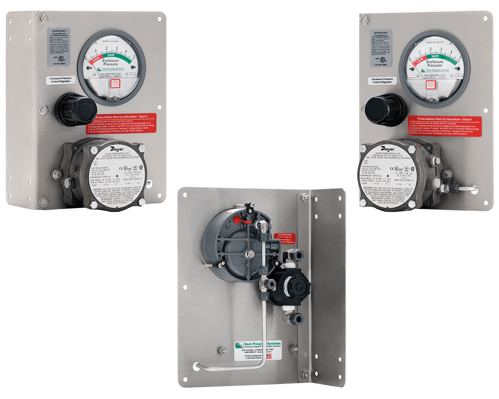 Best Purging Systems Model 101B Vertical Mount Purge Unit - UL Listed NFPA 496 Type Z Enclosure Purging Unit and Type Z Pressurization System, with Pressure Loss Alarm Switch