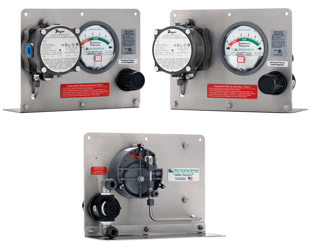 Best Purging Systems Model 101C Horizontal Mount Purge Unit - UL Listed NFPA 496 Type Z Enclosure Purging Unit and Type Z Pressurization System, with Pressure Loss Alarm Switch